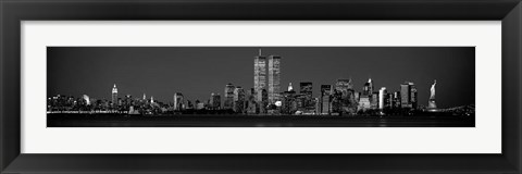 Framed Manhattan Skyline 2001 Print