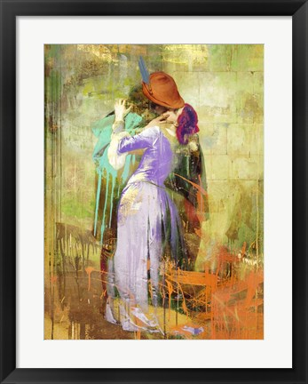 Framed Hayez's Kiss 2.0 Print