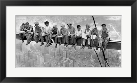Framed New York Construction Workers Lunching on a Crossbeam, 1932 (detail) Print
