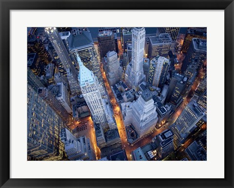 Framed Aerial View of Wall Street Print