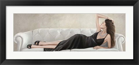 Framed Lady Reclined Print