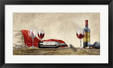 Framed Grand Cru Wines (detail) Print