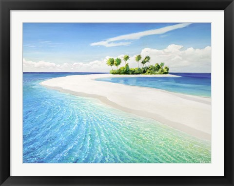 Framed Isola Tropicale Print