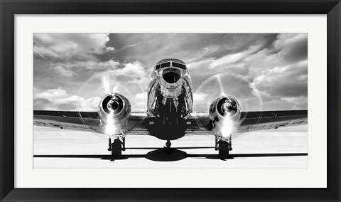 Framed Airplaine Taking Off Print