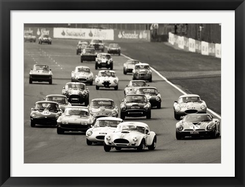 Framed Silverstone Classic Race Print