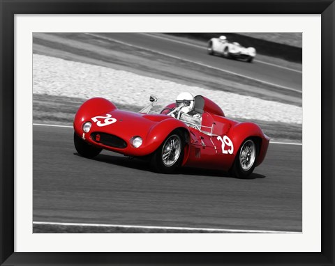Framed Historical Race Cars 1 Print