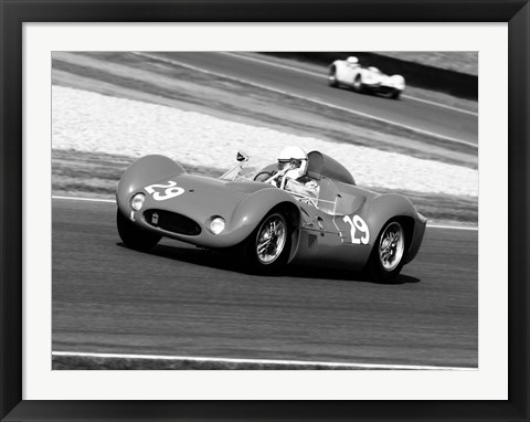 Framed Historical Race Cars 2 Print