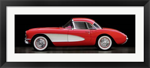 Framed Corvette Chevrolet Print