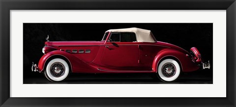 Framed Packard Super Eight Coupe Roadster Print