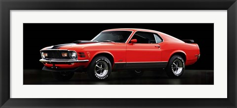 Framed Ford Mustang Mach 1 Print