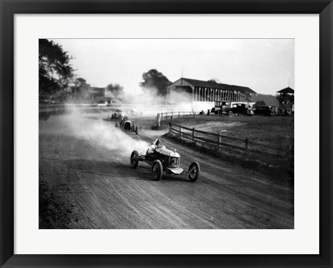 Framed Racing Automobiles Print