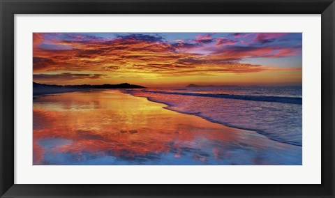 Framed Sunset, North Island, New Zealand Print