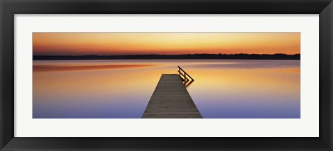 Framed Boardwalk, Bavaria, Germany Print