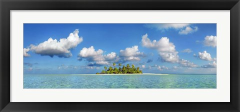 Framed South Male Atoll, Maldives Print
