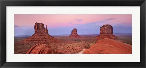 Framed Mittens in Monument Valley, Arizona Print