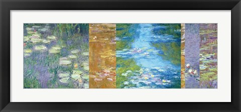 Framed Waterlilies II Print