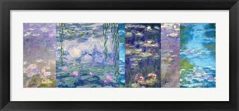 Framed Waterlilies I Print