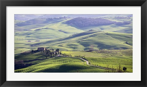 Framed Road in Tuscany Print