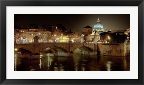 Framed Rome at Night Print