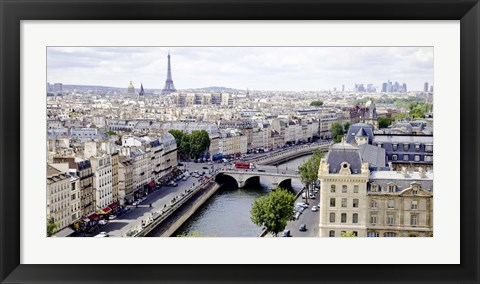 Framed View of Paris Print