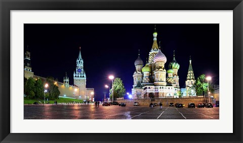 Framed Red Square at Night, Moscow Print