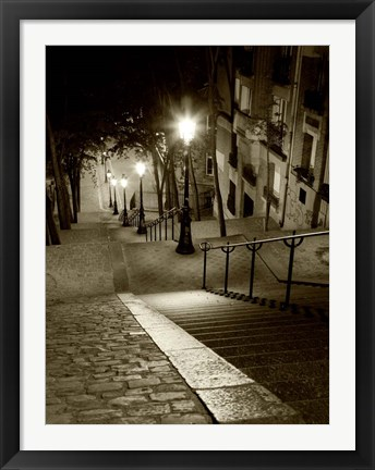 Framed Montmartre, Paris Print