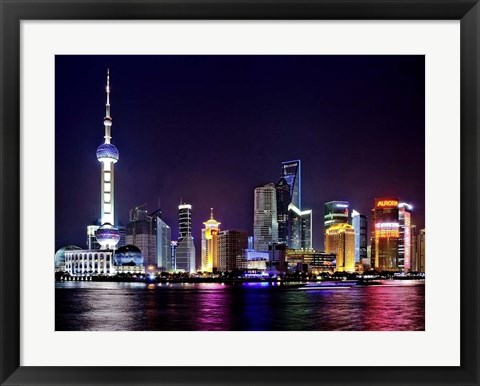 Framed Shanghai at Night Print