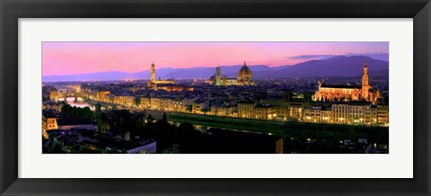 Framed Florence at Night Print