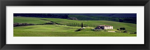 Framed villa in Tuscany Print