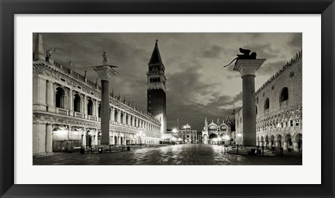 Framed Piazza San Marco, Venice Print