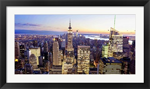 Framed Aerial View of Manhattan, NYC 2 Print