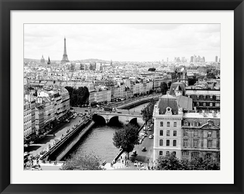 Framed View of Paris and Seine River Print