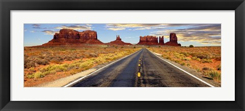Framed Road to Monument Valley, Arizona Print