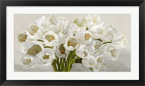 Framed Tulipes Blanches Print