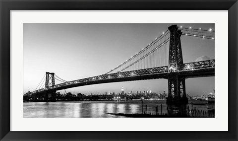 Framed Queensboro Bridge and Manhattan from Brooklyn, NYC Print