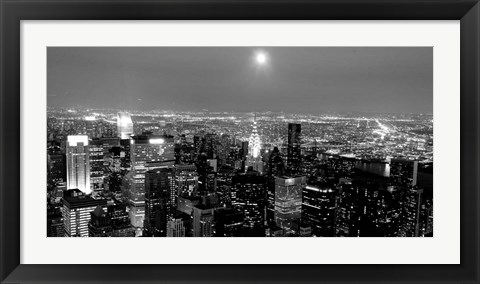 Framed Aerial View of Manhattan, NYC Print