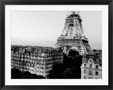 Framed Eiffel Tower and Buildings, Paris Print