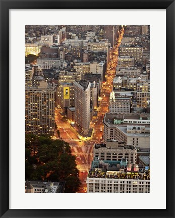 Framed Aerial View of Flatiron Building, NYC Print