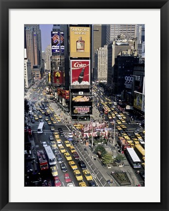 Framed Traffic in Times Square, NYC Print