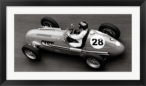 Framed Historical Race Car at Grand Prix de Monaco 1 Print