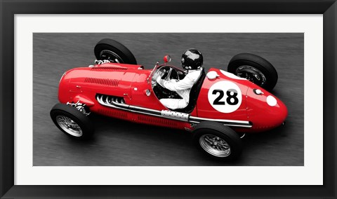 Framed Historical Race Car at Grand Prix de Monaco 2 Print