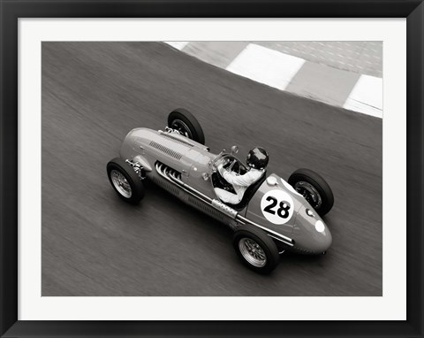 Framed Historical Race Car at Grand Prix de Monaco 3 Print