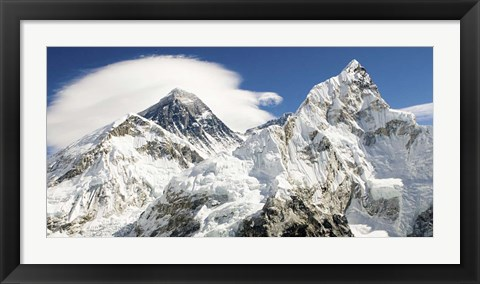Framed Mount Everest (detail) Print