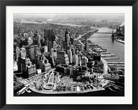 Framed Aerial View of Manhattan Print
