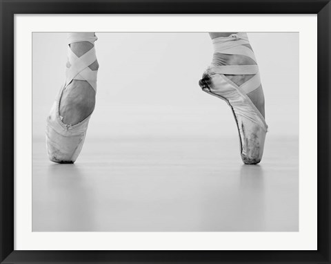 Framed Female Ballet Dancer Print