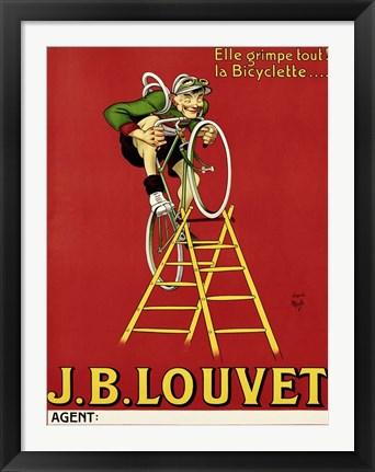 Framed Louvet Bicycles Print