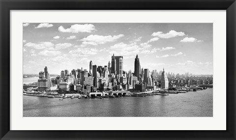 Framed Manhattan Waterfront, NYC Print