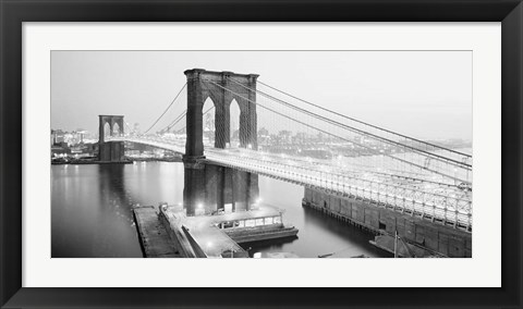 Framed Brooklyn Bridge from Manhattan side, NYC Print