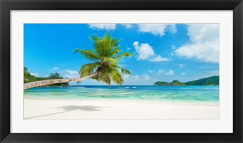 Framed Tropical Beach, Seychelles Print