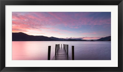 Framed Twilight on Lake, UK Print